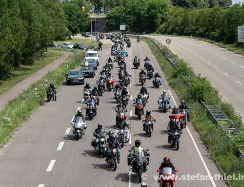 Motorrad Demonstration in Karlsruhe: Vox Motorium