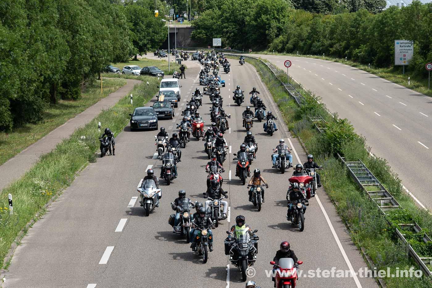 Biker Demo Karlsruhe 04.07.2020
